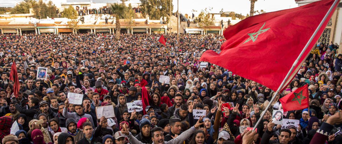 -المغرب: احتجاجات مساندة لمعتقلي حراك جرادة